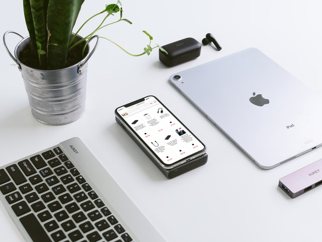 white gadget